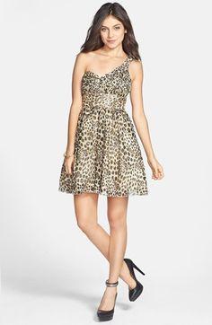 524ab806 Jump Apparel By Wendy Chaitin One Shoulder Leopard Print Dress (juniors)  Animal