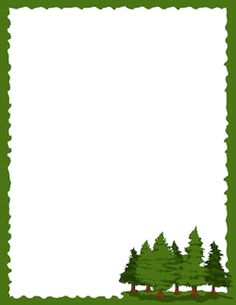 Pine Tree Border