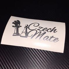 SILVER Czech Mate Sticker Decal Skoda Vrs Yeti #DeTape