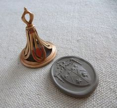 Anti Slavery Gold and Chalcedony Antique Wax Seal