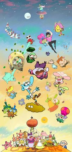 It is all the chowder characters. Really cool, except, lots of these characters were in chowders dream. Just saying.