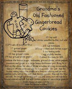 Retro Recipes, Old Recipes, Vintage Recipes, Cookie Recipes, Dessert Recipes, Ginger Bread Cookies Recipe, Ginger Cookies, Thai Recipes, Crack Crackers
