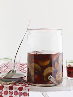 """A splash of ginger ale makes this fruity wine punch even more refreshing,"" says Country Living reader Meg Spaeth of Madison, Wisconsin. Recipe: Plum Sangria   - CountryLiving.com"