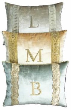 Monogrammed Pillows by B. Viz Design