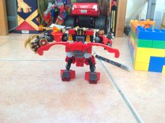 AWESOME  UPGRADED VERSION OF KAI'S NINJAGO ROBOT (BACK VIEW )