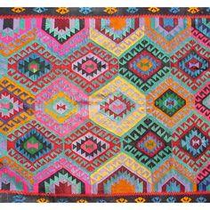 vintage kilim rug . pattern is of bulgarian origin