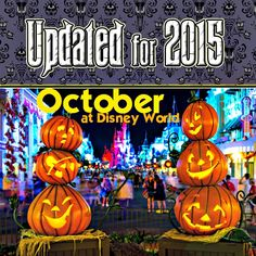 October at Disney World - projected crowd levels, dining/FastPass+ reservations, email alert list & MORE