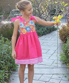 Love this Pink & Yellow Floral Dress - Infant, Toddler & Girls by Petite & Posh on #zulily! #zulilyfinds