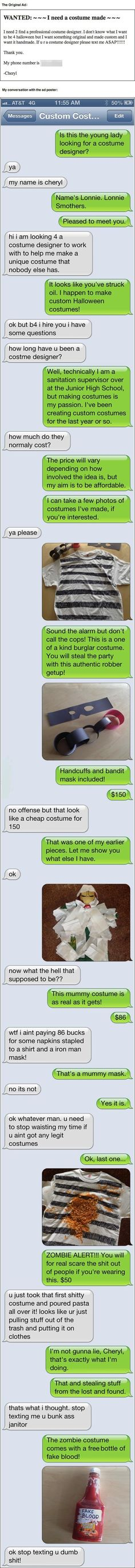 Looking for a Halloween costume?