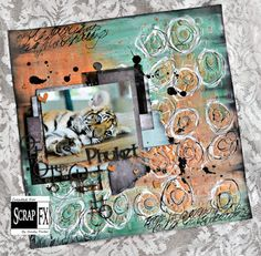 Phuket layout by Cindy Porter, featuring Scrap FX products:  Lots of Love, Steampunk Transparency, Circle Mash Collage, Abstract stencil www.scrapfx.com.au