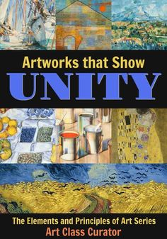 In this post from the elements and principles of art series on Art Class Curator, see varying examples of unity in art. From harmony with shape to unity using texture, find all of your unity in art examples in one place! Principles Of Design Harmony, Principles Of Art Unity, Harmony Art, Elements And Principles, Kindergarten Art Lessons, Art Lessons Elementary, Elements Of Art Examples, Art Elements, Variety In Art