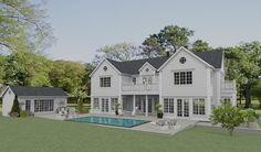 Ett hus i New England stil byggs upp i Djursholm New England Hus, Beaver Homes, Fish Ponds, Roomspiration, Big Houses, Home Fashion, Beautiful Homes, House Plans, Sweet Home