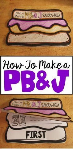 How to Make a Peanut Butter and Jelly Sandwich- writing booklet.