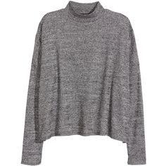 Ribbed turtleneck top 59.90 ($9.99) ❤ liked on Polyvore featuring tops, sweaters, rib sweater, jersey tops, short tops, turtle neck sweater and jersey sweater