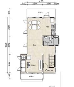 Small Home design Plans with 2 Bedrooms - House Plan Map 2 Bedroom House Plans, Villa Design, Under Stairs, Small House Design, Home Design Plans, How To Level Ground, Family Room, Floor Plans, Backyard