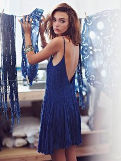 Free People FP ONE Elise Pintuck Mini Dress at Free People Clothing Boutique