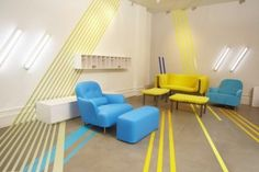 Blue And Yellow Furniture For Bright Interior Ideas