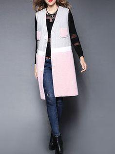 Color-block Wool blend Waistcoat