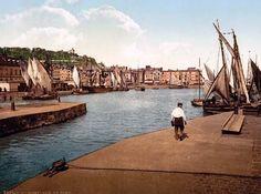 The port, Honfleur, France c. 1890-1900.