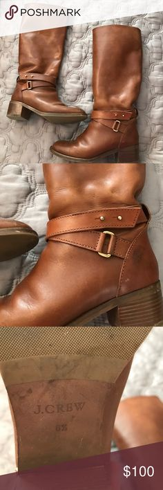 Tall camel leather jcrew riding boots Tall camel leather jcrew riding boots, super preppy, pull on, very comfy J. Crew Shoes Heeled Boots
