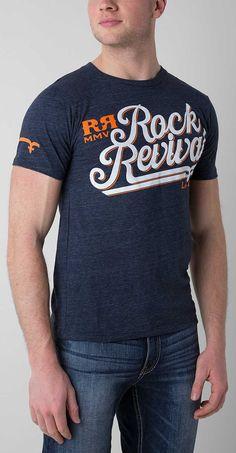 Rock Revival Velvet T-Shirt - Men's T-Shirts in Navy T Shirt Art, Casual T Shirts, Tee Shirts, Velvet T Shirt, Shirt Outfit, Rock Revival, Mens Fashion, My Style, Mens Tops