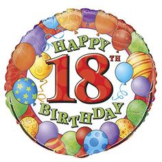 18 Foil 18th Birthday Balloon * Find out more about the great product at the image link. (This is an affiliate link)