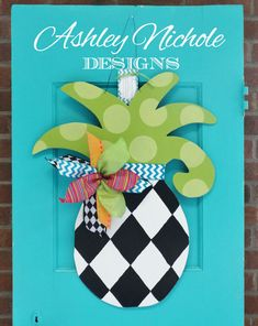 Small Pineapple Door Hanger Door by DesignsAshleyNichole on Etsy, $55.00