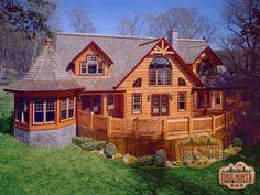 Custom Log Home Plans, Custom Log Home Models   Citadel Collection   True North Log Homes