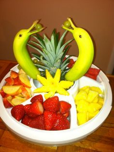 How to Make a Pineapple Palm Tree for a Serving Tray   Videos ...