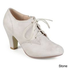 ab10a215aee Journee Collection Women s  Leona  Vintage Round Toe Lace-up Booties