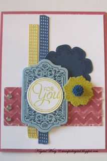 Mojo 296,HSSCC161, Stampin' Up Chalk Talk & Daydream Medallions  maybe try with just believe tag