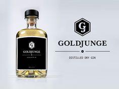 Goldjunge Gin Logo and Bottle Label