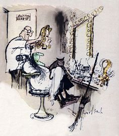 'Bewitched' Illustration by Ronald Searle (Miehana, via Flickr)