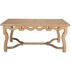 A Large French Cerused Oak Dining / Center Table | From a unique collection of antique and modern dining room tables at http://www.1stdibs.com/furniture/tables/dining-room-tables/