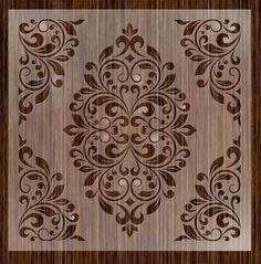 Attractive Grand Damask Wall Stencil Decorative Wall Paints Unique Fantasy Stencils 24 Damask Wall pertaining to [keyword # Paisley Stencil, Damask Wall Stencils, Large Wall Stencil, Wall Stencil Patterns, Large Stencils, Stencil Designs, Paint Designs, Stencil Painting, Tole Painting