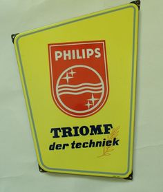 philips Nijmegen emaille bord Emaillebord