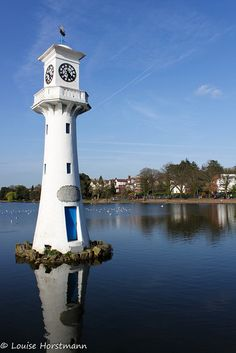 Clock Tower in Roath Park lake, Cardiff, south Wales, UK Wales Uk, South Wales, Cardiff Wales, Beacon Of Light, Kirchen, Great Britain, United Kingdom, Cool Pictures, Places To Go