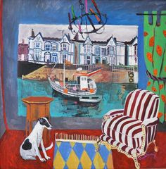 Seaside Location by Jenny Wheatley. Art And Illustration, Illustrations, Sweets Art, Street Gallery, Great Paintings, Interior Paint, Seaside, Contemporary Art, Art Photography