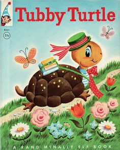 Tubby Turtle Illustrated by Helen Adler in Old Children's Books, Vintage Children's Books, Turtle Book, Richard Scarry, Little Golden Books, Children's Book Illustration, Book Illustrations, Children's Literature, Childrens Books