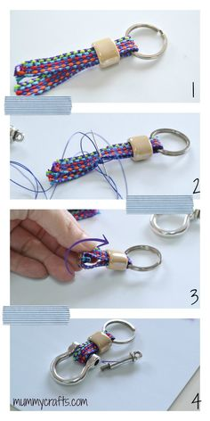 Paso a paso para hacer el llavero para el día del padre 2014 Diy Keychain, Keychain Ideas, Keychains, Friendship Bracelets, Personalized Items, Handmade, Accessories, Jewelry, Charms