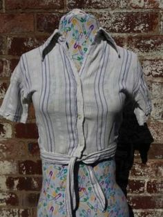 #Womens #Vintage #1970s #Cheesecloth #Crop #Blouse we're sorting the #Rockabilly #Wardrobe out today #Festival goers