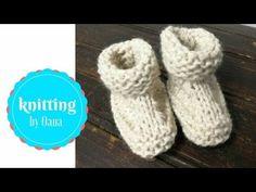 Stivaletti neonato FACILISSIMI a maglia by Oana - YouTube