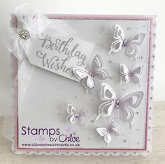Dies by Chloe - Layered Butterfly - - Dies By Chloe Layered Butterfly - Chloes Creative Cards Diy Butterfly, Butterfly Cards, Chloes Creative Cards, Stamps By Chloe, Create And Craft Tv, Birthday Card Design, Birthday Cards For Women, Cards For Friends, Hobbies And Crafts