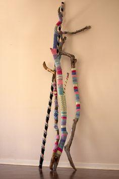 yarnbomb sticks