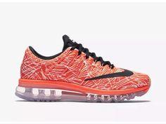 the best attitude ecc0a 24f28 Nike Womens Air Max 2016 Print Shoes Size 8 HYPER Orange Black Sail 818101  800  eBay