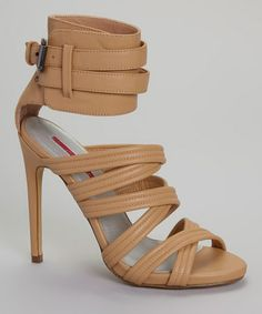 Love this Nude Olive Gladiator Pump by C Label on #zulily! #zulilyfinds