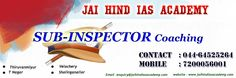 Jai Hind IAS Academy Provoide Best SI Coaching In Chennai...