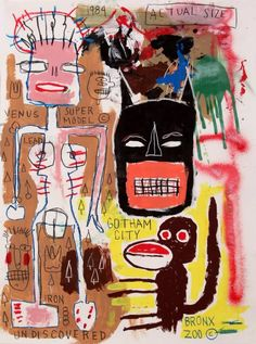JEAN MICHEL BASQUIAT-untitled (BRONX ZOO©) 1984Basquiat .More Pins Like This At FOSTERGINGER @ Pinterest