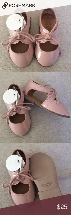 New! Zara Baby Pink Flats! Adorable blush pink little flats for any little princess! Perfect for photo shoots, or any other occasion! New in box. Zara Shoes Dress Shoes