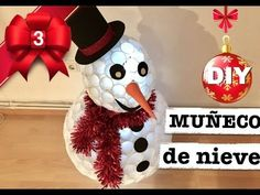 Christmas DIY | SNOWMAN MADE OF PASTIC CUPS - YouTube